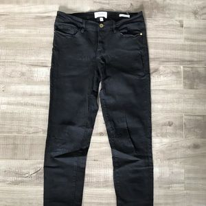Frame Le Skinny De Jeanne Size 29 Black